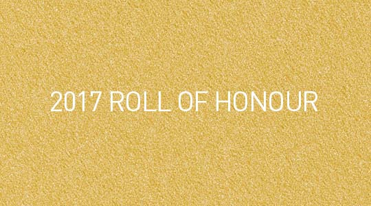 2017 Diana Award Roll of Honour