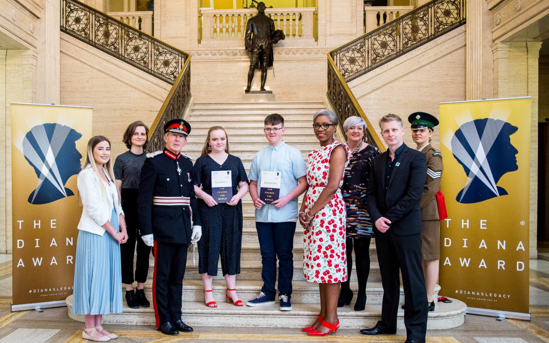 Outstanding young heroes in Belfast receive award in memory of Princess Diana