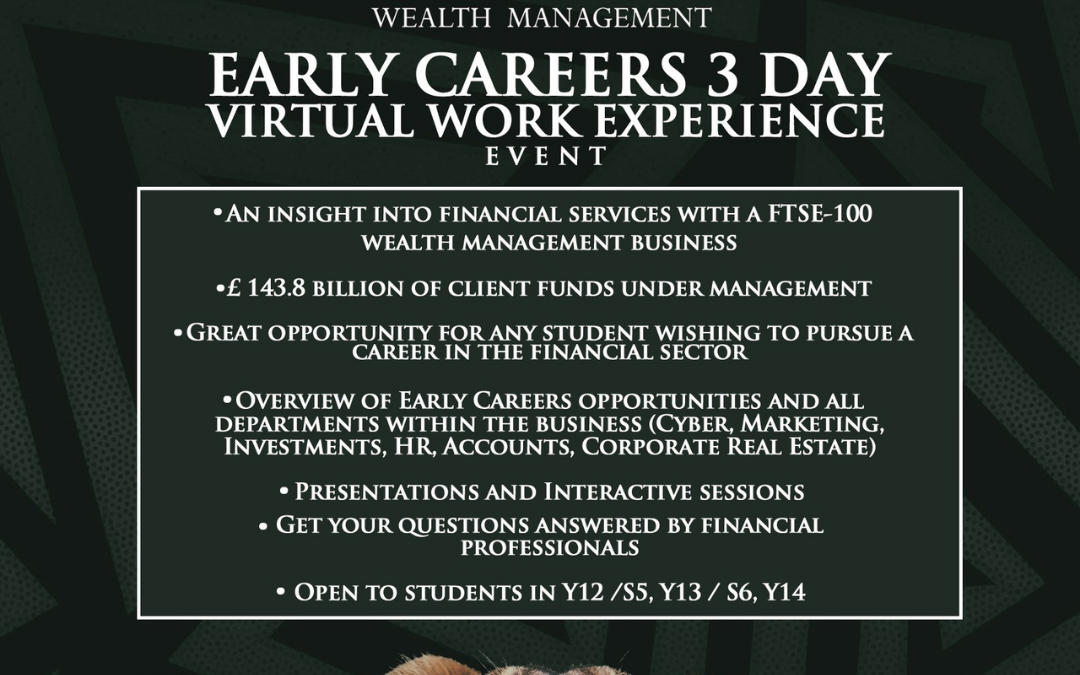 St. James's Place Early Careers 3-day Virtual Work Experience